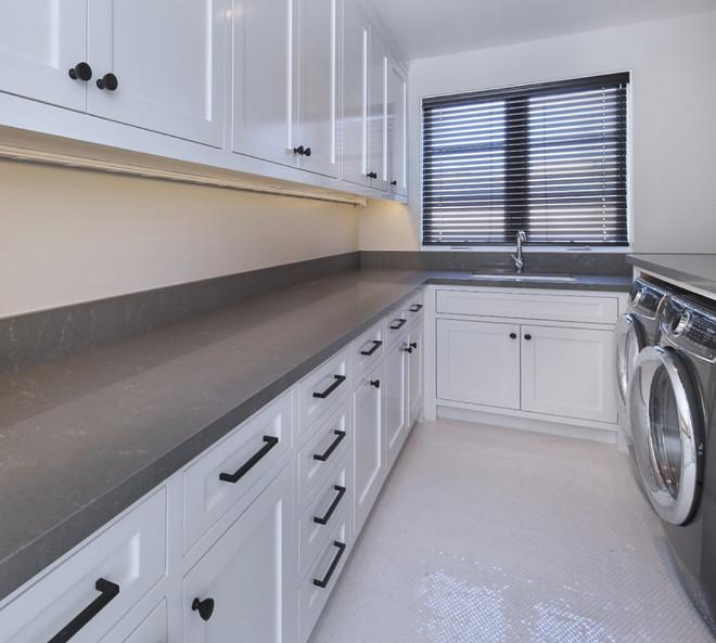 Uliana Grey Quartz Laundry room countertop. Uliana Grey Quartz Uliana Grey Quartz Countertop #UlianaGreyQuartz #GreyQuartz #Countertop #Greycountertop #laundryroom
