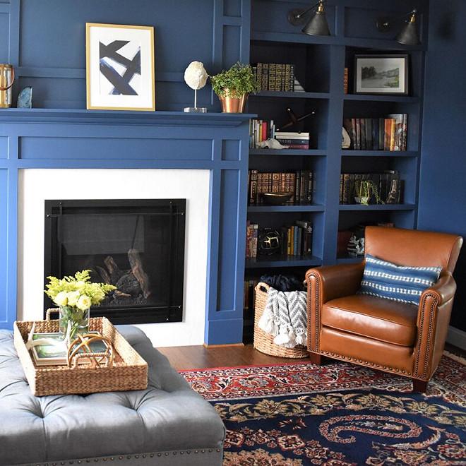 Van Deusen Blue by Benjamin Moore. Navy paint color Van Deusen Blue by Benjamin Moore. Van Deusen Blue by Benjamin Moore. #VanDeusenBluebyBenjaminMoore #navypaintcolor Kate Abt Design
