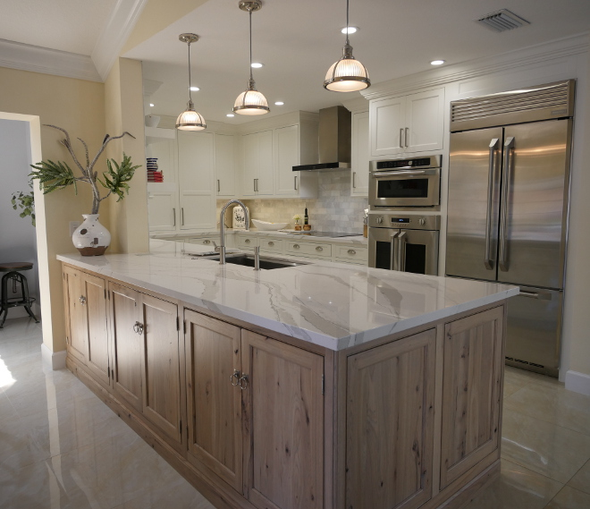 kitchen with island and peninsula white kitchen with driftwood peninsula home bunch 24948
