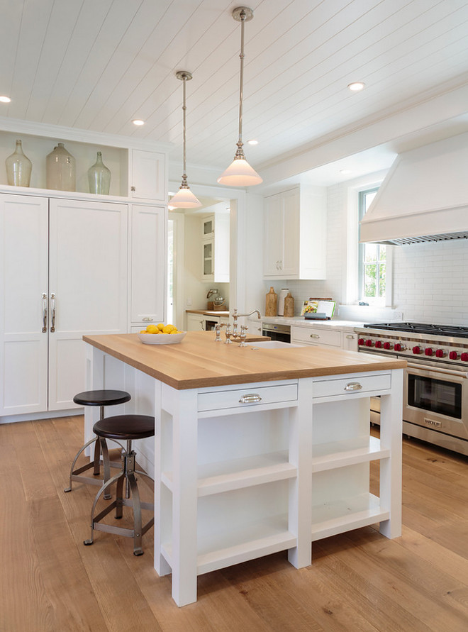 White kitchen with bleached white oak hardwood floor, white oak butcher's block countertop. The kitchen cabinet style is Framed with Inset Doors. White kitchen with bleached white oak hardwood floor, white oak butcher's block countertop. The kitchen cabinet style is Framed with Inset Doors. White White kitchen with bleached white oak hardwood floor, white oak butcher's block countertop. The kitchen cabinet style is Framed with Inset Doors #Whitekitchen #kitchen #bleachedwhiteoakhardwood #bleachedwhiteoakhardwoodfloor #bleachedwhiteoak #bleachedhardwood #whiteoak #whiteoakbutchersblock #butchersblock #butchersblockcountertop #kitchencabinetstyle #cabinetstyle #FramedInsetDoors #InsetDoors Haefele Design