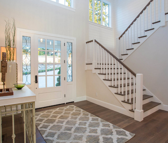 Wide Plank Hickory Floors. The flooring is Hickory, the stain is a custom color. Kentwood Floors #flooring #hardwoodfloors #Hickoryhardwoodflooring #hickory #hardwoodflooring #staincolor Calista Interiors
