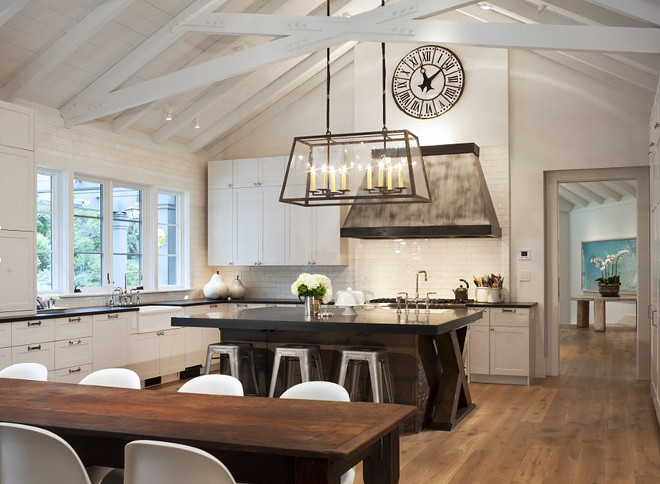 Farmhouse kitchen with island and dining table. Farmhouse kitchen with island and dining table. Farmhouse kitchen with island and dining table #Farmhousekitchen #kitchenisland #diningtable Capomastro Group