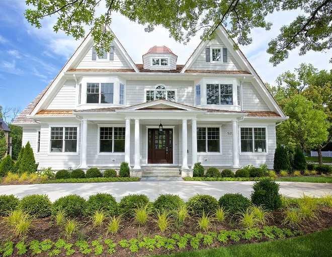 White exterior. White exterior design ideas. Classic white exterior #whiteexterior Oakley Home Builders