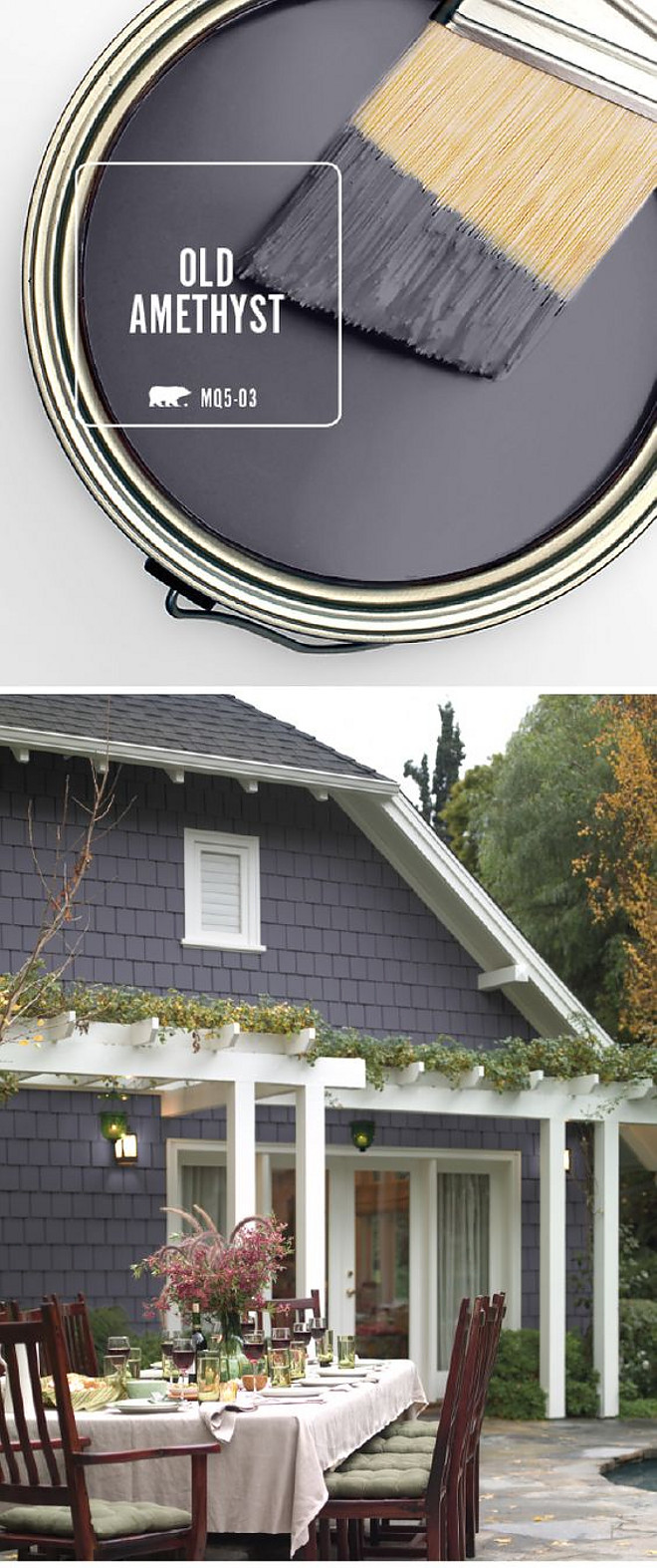 Best Dark Grey Exterior Paint Color. Best Dark Grey Exterior Paint Color Ideas. Behr Old Amethyst. Designer Paint Color Pick Best Dark Grey Exterior Paint Color Behr Old Amethyst #BestDarkGrey #Exterior #PaintColor #BehrOldAmethyst via Behr