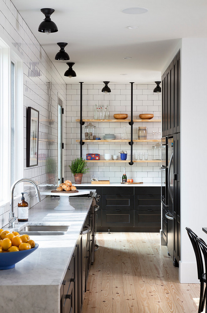 Industrial Black Kitchen with Subway Tile. Industrial Black Kitchen with Subway Tile Ideas. Industrial Black Kitchen with Subway Tile Design #IndustrialBlackKitchen #Industrialkitchen #kitchen #BlackKitchen #SubwayTile Texas Construction Company