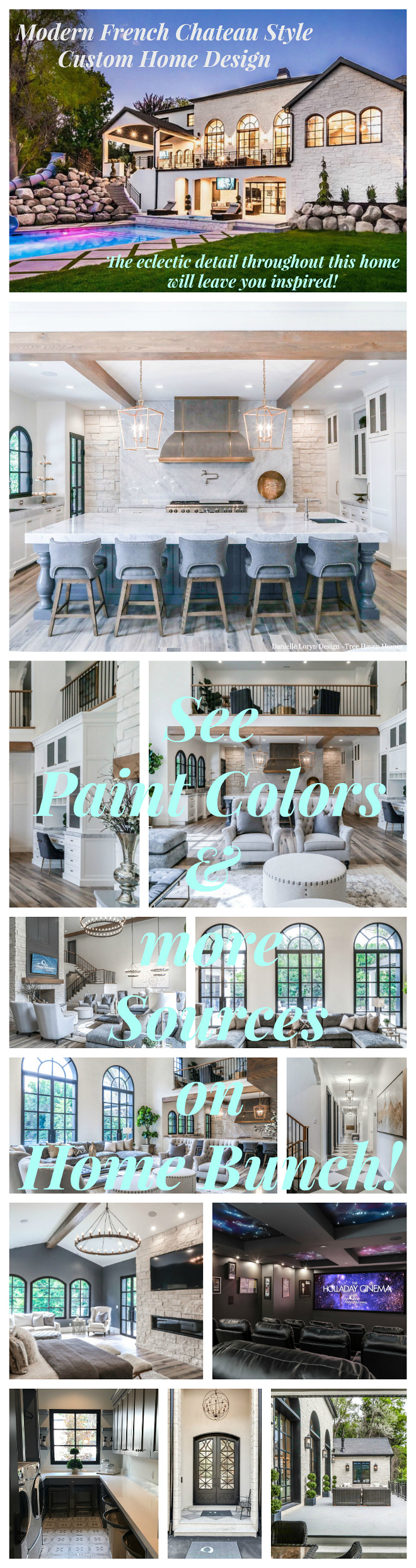 Modern French Chateau Style Custom Home Design. Modern French Chateau Style Custom Home Design Paint Colors and furniture sources #ModernFrenchChateau #FrenchStyleHome #CustomHome #CustomHome Home Bunch