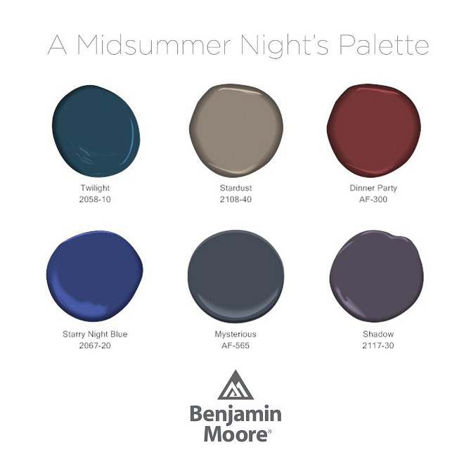 Dark Benjamin Moore Paint Colors. Great Benjamin Moore Colors for Cabinets. Benjamin Moore 2058-10 Twilight. Benjamin Moore 2108-40 Stardust. Benjamin Moore AF-300 Dinner Party. Benjamin Moore 2067-20 Starry Night Blue. Benjamin Moore AF-565 Mysterious. Benjamin Moore 2117-30 Shadow #BenjaminMooreTwilight #BenjaminMooreSardust #BenjaminMooreAF300DinnerParty #BenjaminMooreStarryNightBlue #BenjaminMooreAF565Mysterious #BenjaminMooreShadow #BenjaminMoorePaintcolors #darkBenjaminMoorepaintcolors #BenjaminMoorecabinetpaintcolor via Benjamin Moore