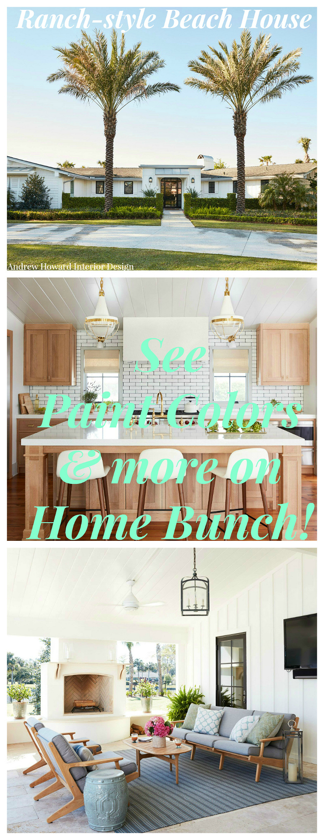 Ranch-style Beach House Interior Ideas #RanchstyleBeachHouse #InteriorIdeas on Home Bunch