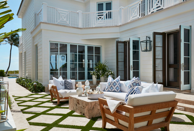 Artificial Grass between pavers. Patio features Artificial Grass between pavers. Artificial grass between pavers keep maintenance to a minimum. Artificial Grass between paver ideas. Artificial Grass between pavers #ArtificialGrassbetweenpavers Pineapples Palms, Etc
