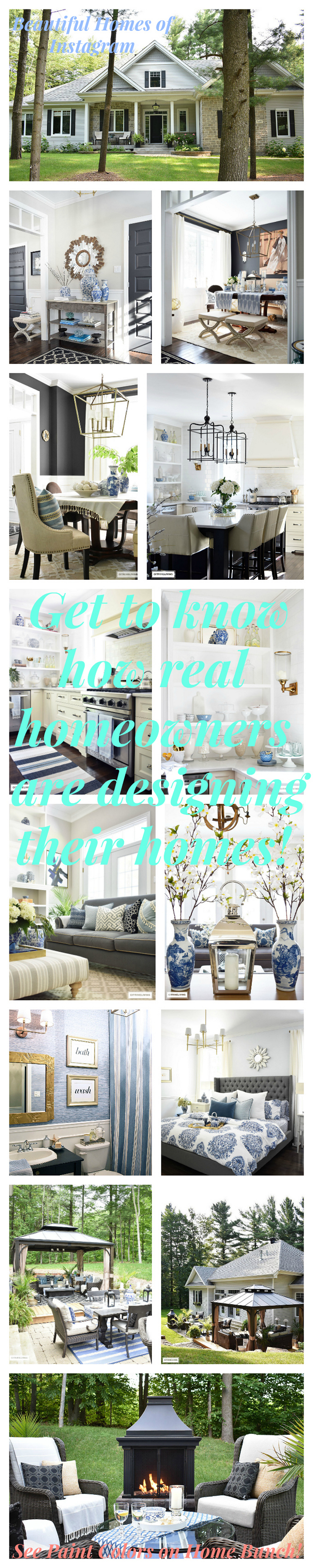 Beautiful Homes of Instagram. Inspiring and Beautiful Homes of Instagram Get to know how real homeowners are designing their homes! Every Sunday on HomeBunch