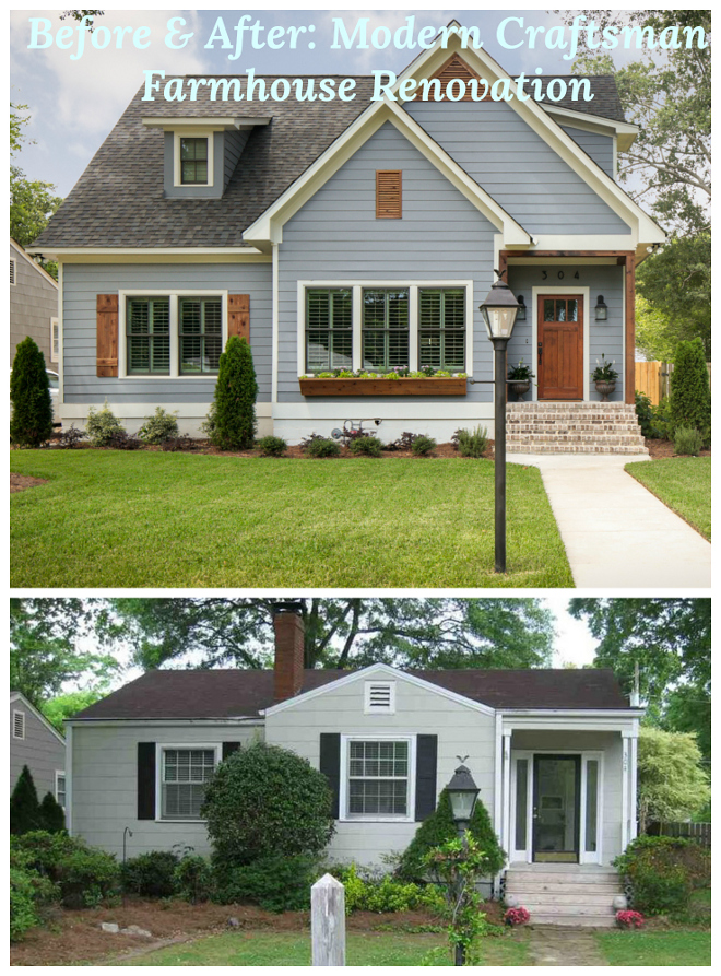 Before And After Modern Craftsman Farmhouse Renovation See The Interiors On Home Bunch Beforeandafter