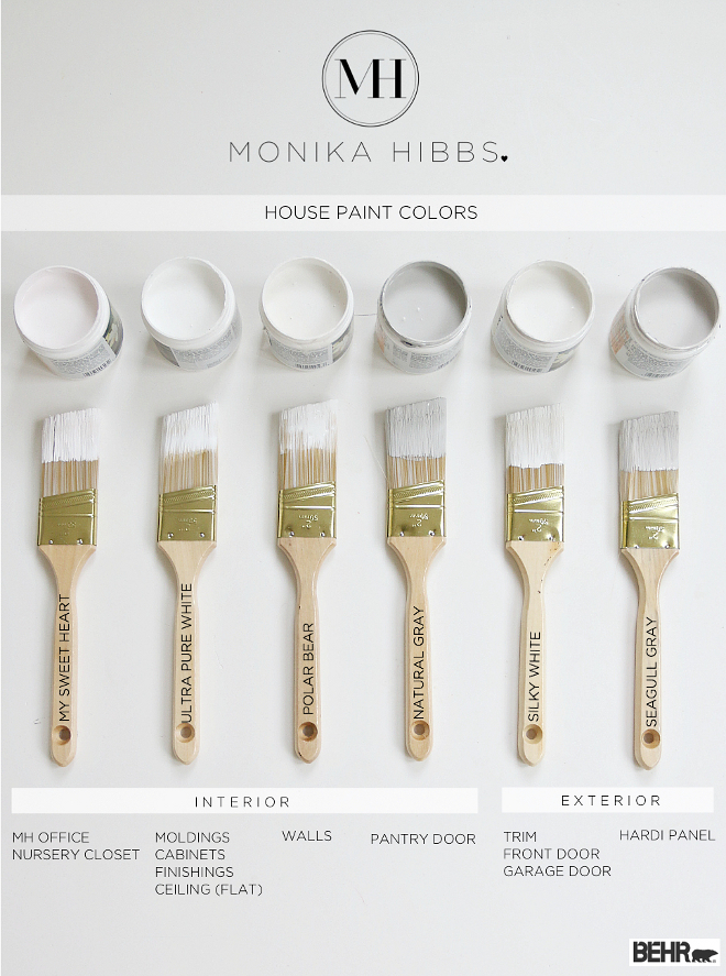 Behr White Paint Colors. Best Behr Paint Colors. Behr My Sweet Heart. Behr Ultra Pure White. Behr Polar Bear. Behr Natural Gray. Behr Silky White. Behr Seagull Gray #Behr #whitepaintcolors Via Monika Hibs
