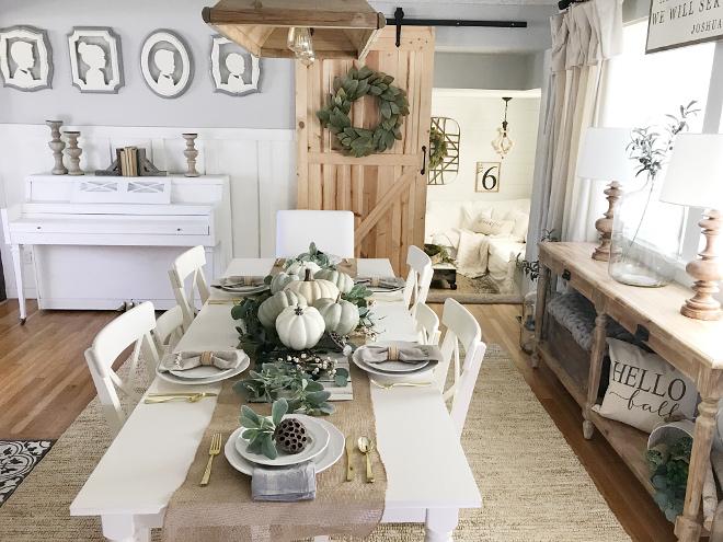 Farmhouse Dining Room Fall Decor Ideas Home Bunch Interior