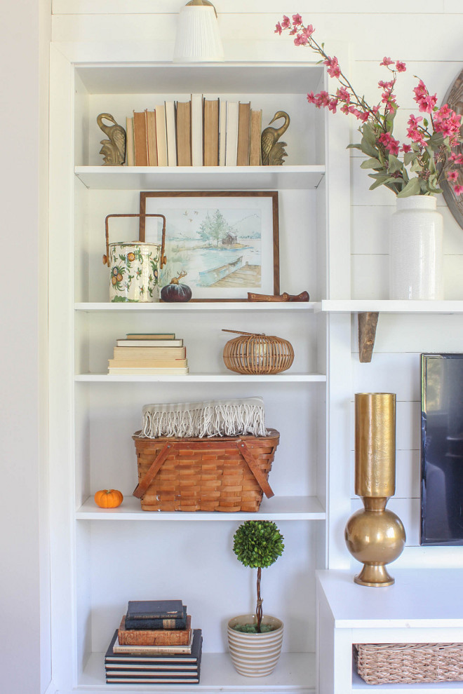 Bookcase Fall Decor. Bookcase Fall Decorating Ideas. Bookcase Fall Decor. Bookcase Fall Decor. Bookcase Fall Decor #BookcaseFallDecor @laura_willowstreetinteriors