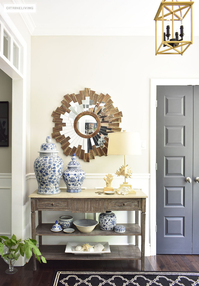 Console Table. Foyer Console Table. Foyer Console Table. Foyer Console Table is from HomeSense #Foyer #ConsoleTable #HomeSense Beautiful Homes of Instagram @citrineliving Home Bunch