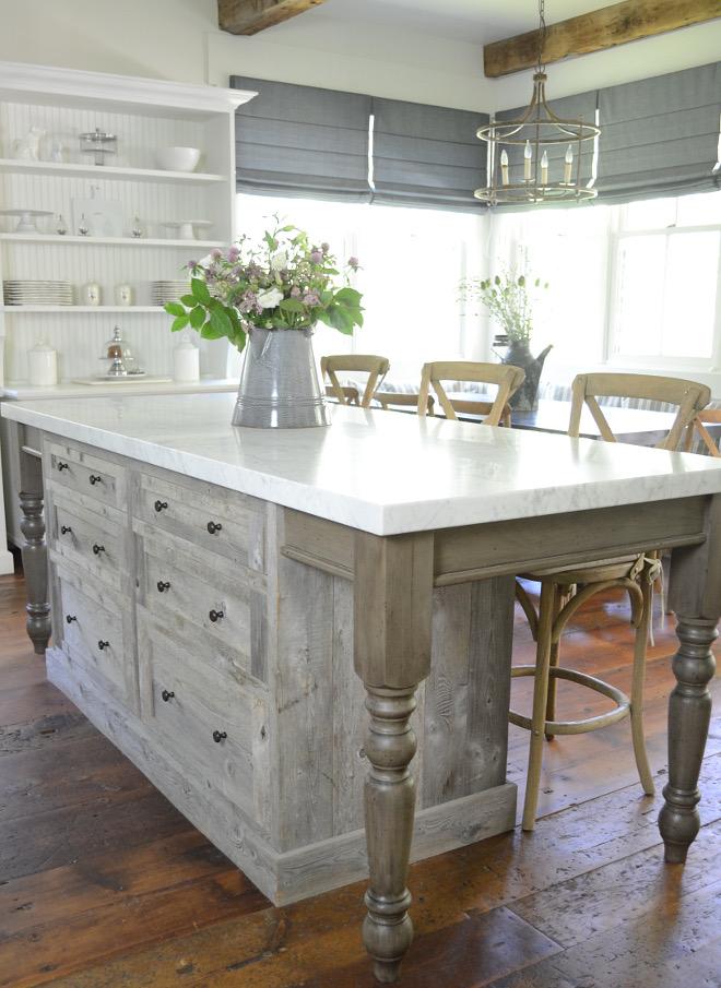 White Farmhouse Kitchen Sink In Island