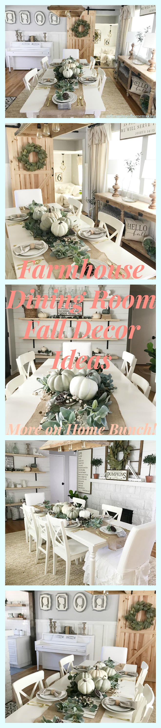 Farmhouse Dining room Fall decor ideas. Farmhouse Dining room Fall decor. Farmhouse Fall decor #FarmhouseFalldecor #Farmhouse #Falldecor #fall Home Bunch