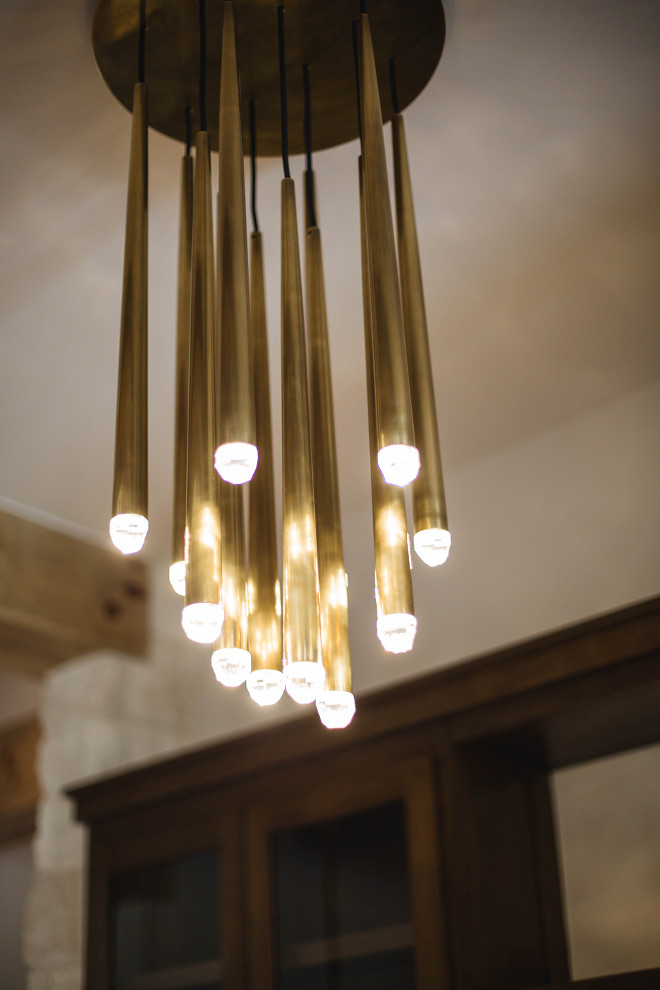 Gold pendants - The bar lighting is from Restoration Hardware. #Goldpendants #restorationhardware Urbanology Designs