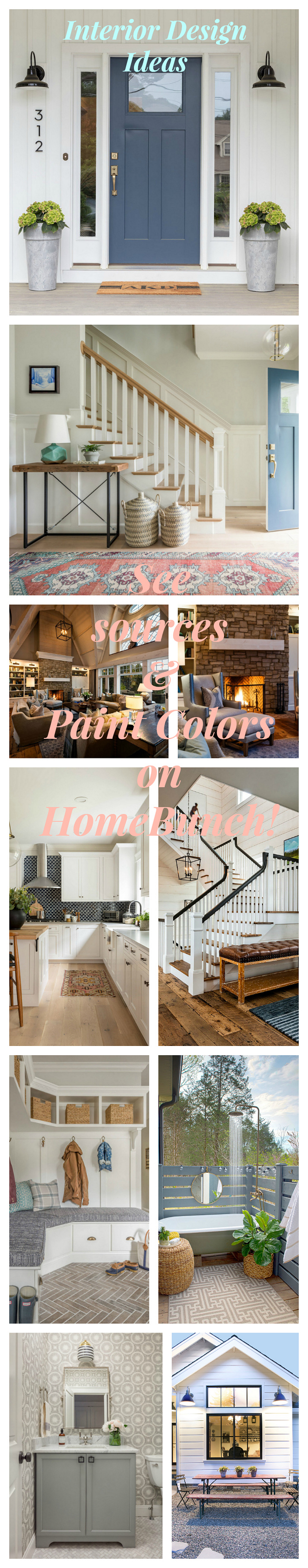 Interior Design Ideas featuring designer sources, home decor and paint colors - a weekly series on Home Bunch