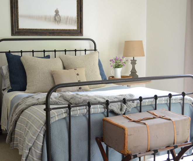 Iron Bed Farmhouse Bedroom. Iron Bed Farmhouse Bedroom. Iron Bed Farmhouse Bedroom. Black Iron Bed Farmhouse Bedroom. Iron Bed Farmhouse Bedroom #IronBedFarmhouseBedroom #IronBed #FarmhouseBedroom Beautiful Homes of Instagram @SanctuaryHomeDecor