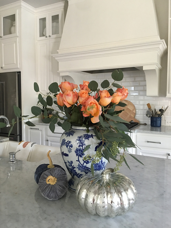 Kitchen Fall Decor. Elegant Kitchen Fall Decor. Elegant Kitchen Island Fall Decor @classicstylehome