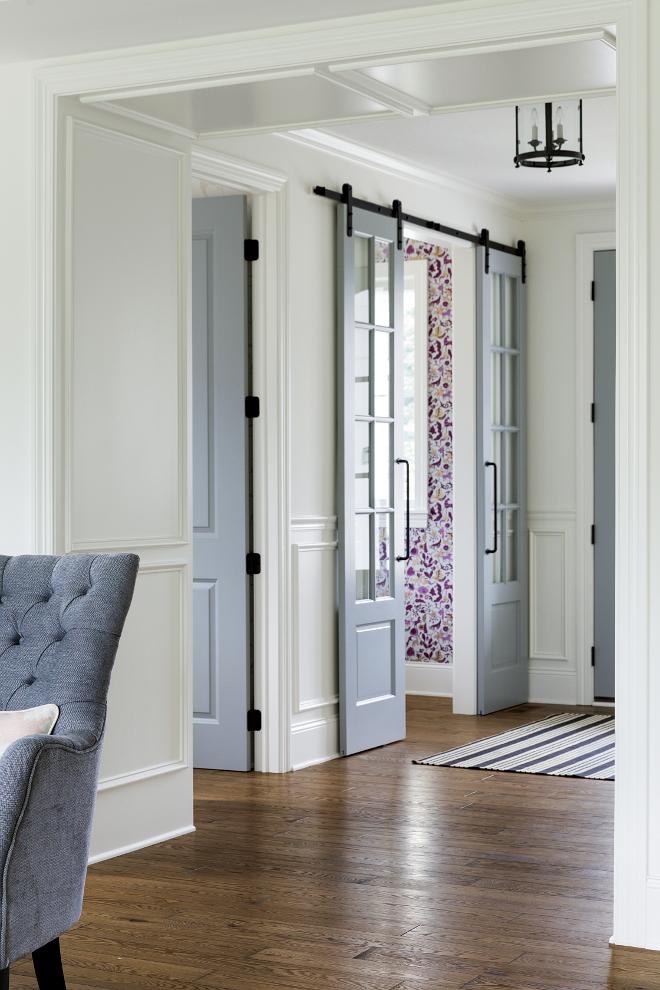 Medium stain oak hardwood floors. Medium stain oak hardwood floors contrasting with white paneling. Medium stain oak hardwood floors #Mediumstain #oakhardwoodfloors Bria Hammel Interiors