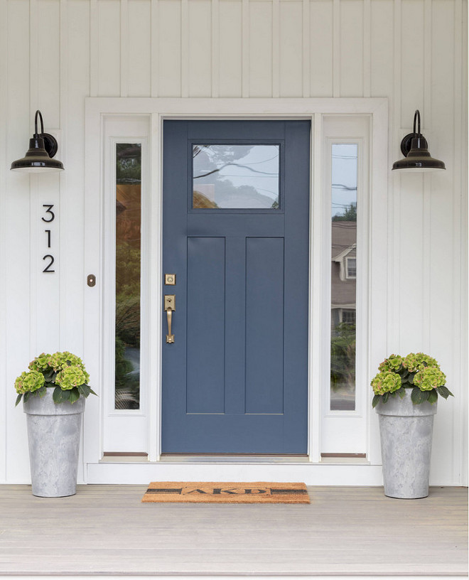 Newburyport Blue Hc 155 By Benjamin Moore Navy Door Paint Color
