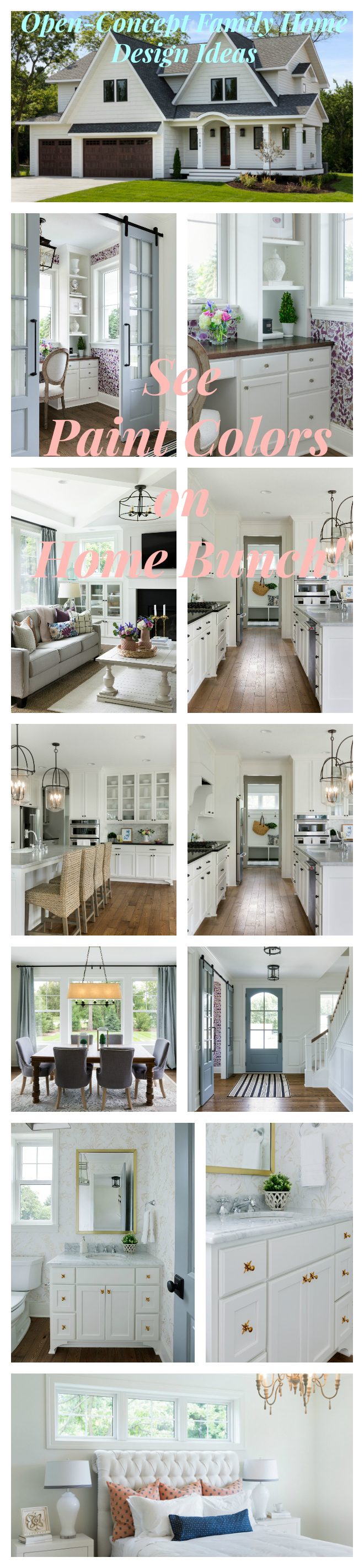 Open-Concept Family Home Design Ideas. See paint colors on Home Bunch