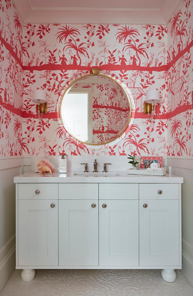 Quadrille, China Seas Wallpaper. Bathroom wallpaper Quadrille, China Seas. Quadrille, China Seas #QuadrilleChinaSeas #bathroomwallpaper Pineapples Palms, Etc
