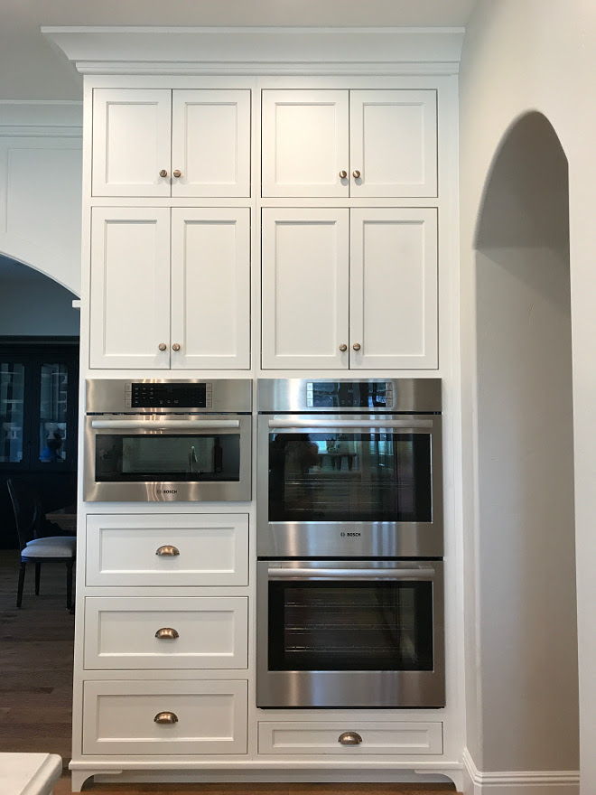 Shaker Cabinet. Oven wall cabinet with shaker doors. Shaker kitchen cabinets oven wall #ShakerCabinet #Ovencabinet #Shakerdoors #kitchen #kitchencabinet Home Bunch Interior Design