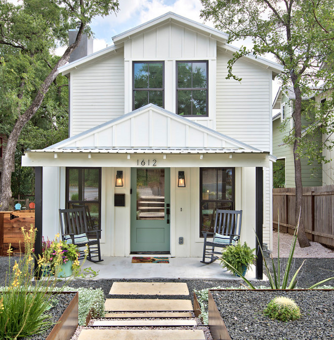 Simply White OC17 Benjamin Moore Exterior Paint Color. Simply White OC17 Benjamin Moore Exterior Paint Color. Simply White OC17 Benjamin Moore Exterior Paint Color Modern Farmhouse Tiny Home Simply White OC17 Benjamin Moore Exterior Paint Color #SimplyWhiteOC7BenjaminMoore #ExteriorPaintColor Avenue B Development