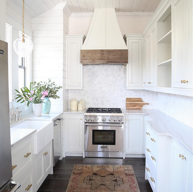 Small White Kitchen. Tons Of Storage Makes This Small White Kitchen Super  Functional. Small