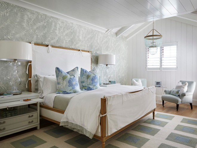 Soothing Bedroom Design. Soothing Bedroom Design with grey and white wallpaper, shiplap ceiling and shiplap accent wall and a seagrass beaded chandelier. Soothing Bedroom Design. Soothing Bedroom Design with grey and white wallpaper, shiplap ceiling and shiplap accent wall and a seagrass beaded chandelier. Soothing Bedroom Design. Soothing Bedroom Design with grey and white wallpaper, shiplap ceiling and shiplap accent wall and a seagrass beaded chandelier #SoothingBedroomDesign #BedroomDesign #SoothingBedroom #Design #greyandwhitewallpaper #shiplapceiling #shiplap #shiplapaccentwall #seagrassbeadedchandelier #chandelier Pineapples Palms, Etc