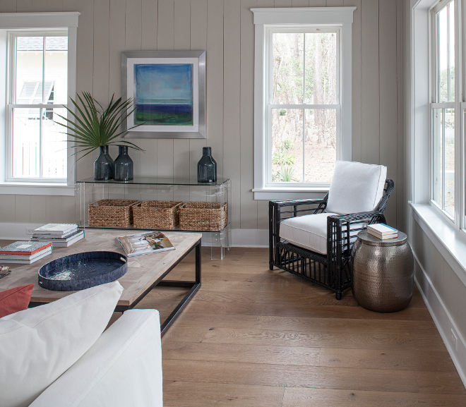 Tan shiplap paint color. Tan shiplap paint color. Sherwin Williams SW 7596 Only Natural Tan shiplap paint color #Tanshiplap #paintcolor #shiplappaintcolor #tanshiplap #tanshiplappaintcolor #SherwinWilliamsSW7596OnlyNatural Lisa Furey - Barefoot Interiors