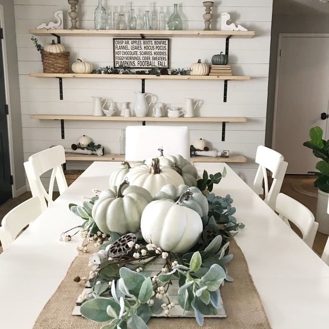 White Pumpkins Fall Tablescape. Farmhouse White Pumpkins Fall Tablescape. Farmhouse White Pumpkins Fall Tablescape ideas #WhitePumpkinsFallTablescape #WhitePumpkins #FallTablescape #FarmhouseWhitePumpkinsFallTablescape #Farmhouse #FarmhouseTablescape Dreaming of Homemaking