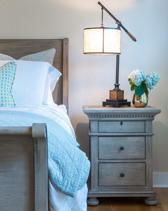 White oak Bedroom furniture. Paint color is Sherwin Williams Light French Grey SW 0055. White oak Bedroom furniture. White oak Bedroom furniture. White oak Bedroom furniture. White oak Bedroom furniture #WhiteoakBedroomfurniture Restyle Design, LLC.