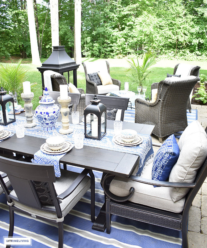 blue-and-white-outdoors Beautiful Homes of Instagram @citrineliving Home Bunch