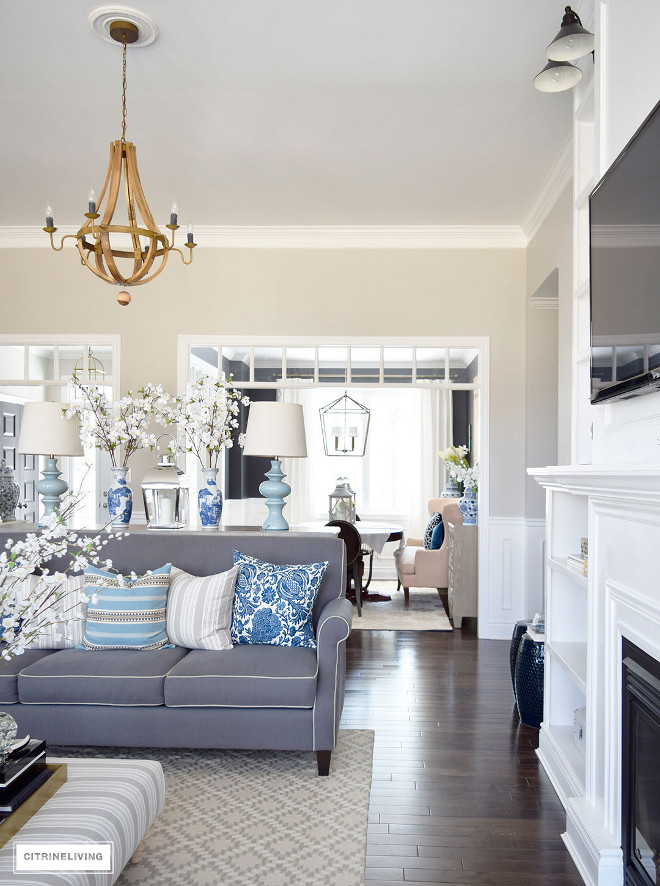 living-room-spring-decor-blue-and-white-living-room-spring-decor-blue-and-white-living-room-spring-decor-blue-and-white #livingroom #decor #blueandwhite Beautiful Homes of Instagram @citrineliving Home Bunch