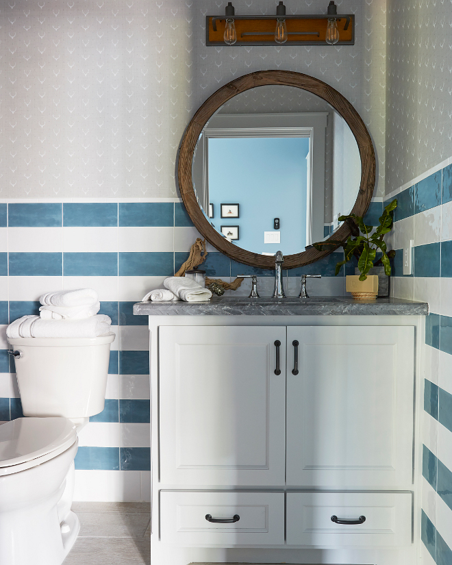 Bathroom Striped Tile Wainscoting. Bathroom Striped Tile Wainscoting. Bathroom Striped Tile Wainscoting. Bathroom Striped Tile Wainscoting. Bathroom Striped Tile Wainscoting #Bathroom #StripedTile #TileWainscoting Morning Star Builders