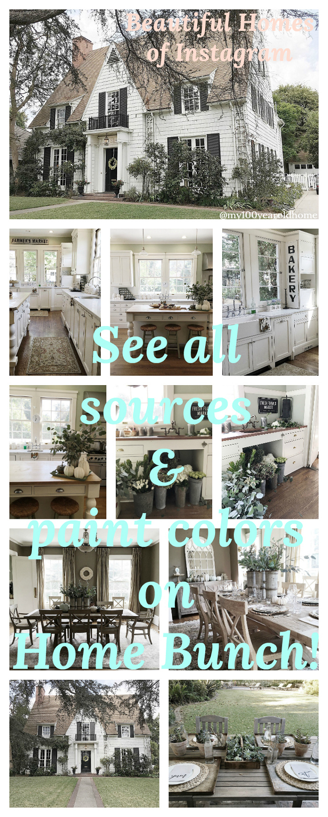 Beautiful Homes of Instagram. A real blog series showcasing real homes. See all sources and paint colors on Home Bunch.