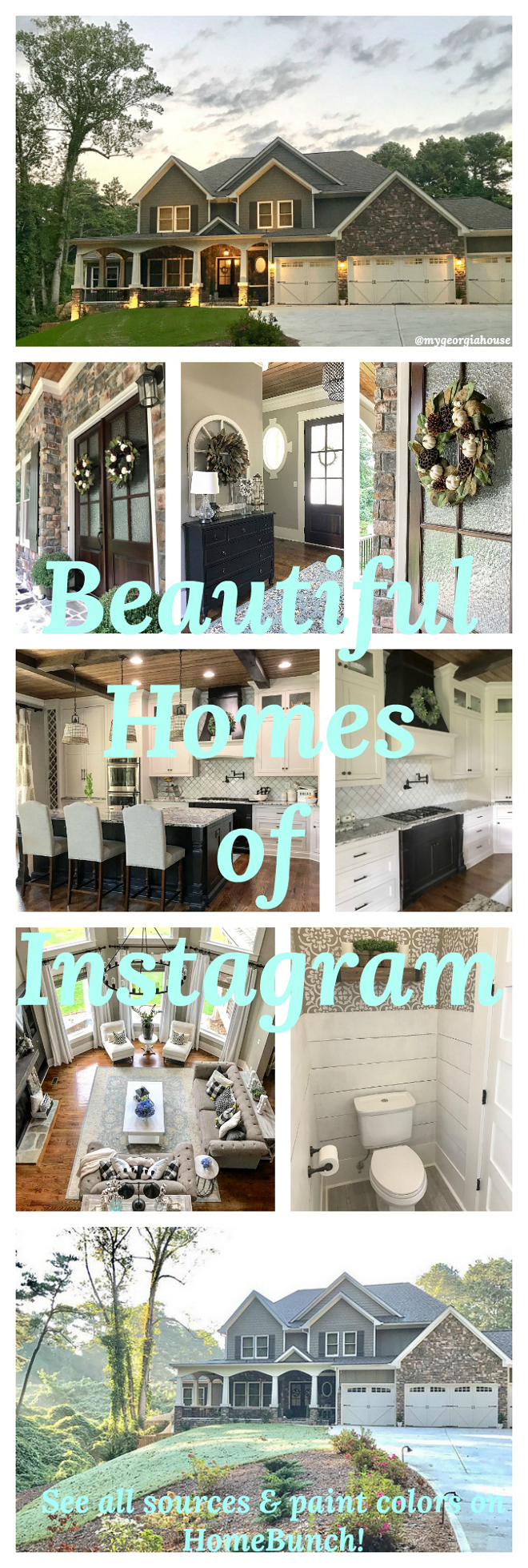 Beautiful Homes of Instagram. See paint colors and diy tutorials on Home Bunch