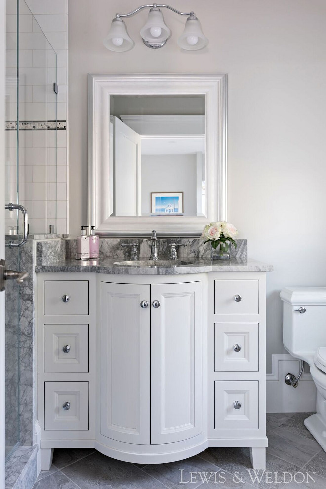 Benjamin Moore, Grey Owl. Benjamin Moore, Grey Owl paint color. Benjamin Moore, Grey Owl works great here with the grey countertop and white cabinet. Benjamin Moore, Grey Owl #BenjaminMooreGreyOwl Lewis & Weldon Custom Kitchens