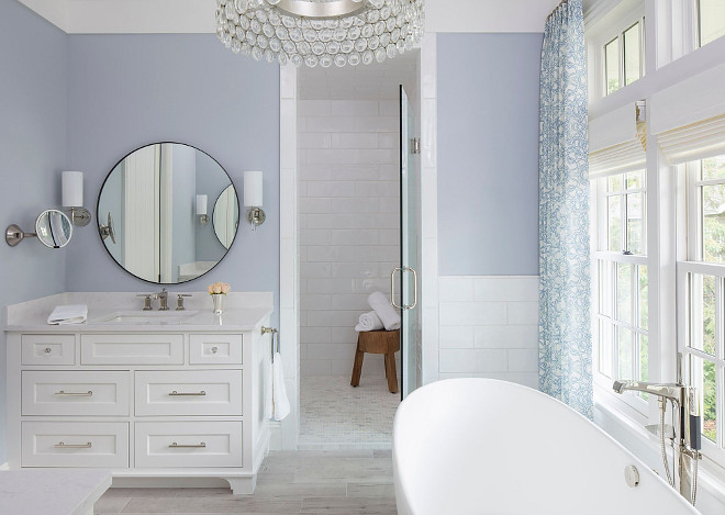 Benjamin Moore White Water 2120-60. Blue bathroom paint color Benjamin Moore White Water 2120-60. Benjamin Moore White Water 2120-60. Benjamin Moore White Water 2120-60. Benjamin Moore White Water 2120-60 #BenjaminMooreWhiteWater #bluebathroom #paintcolor Martha O'Hara Interiors