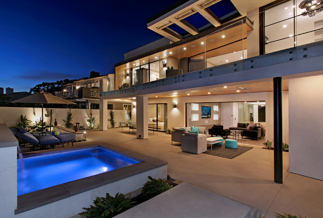 Contemporary home backyard design ideas. Brandon Architects, Inc.