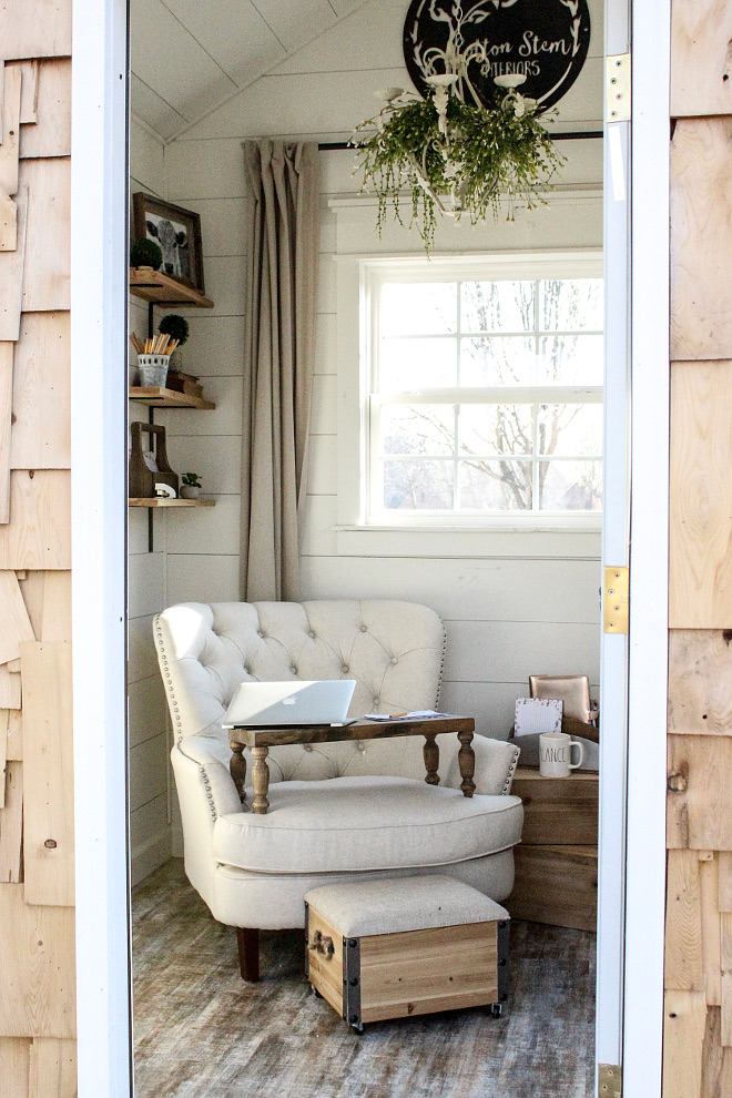 Coverted shed into home office. Coverted shed into home office. Coverted shed into home office ideas. Coverted shed into home office #Covertedshed #homeoffice Home Bunch Beautiful Homes of Instagram @cottonstem