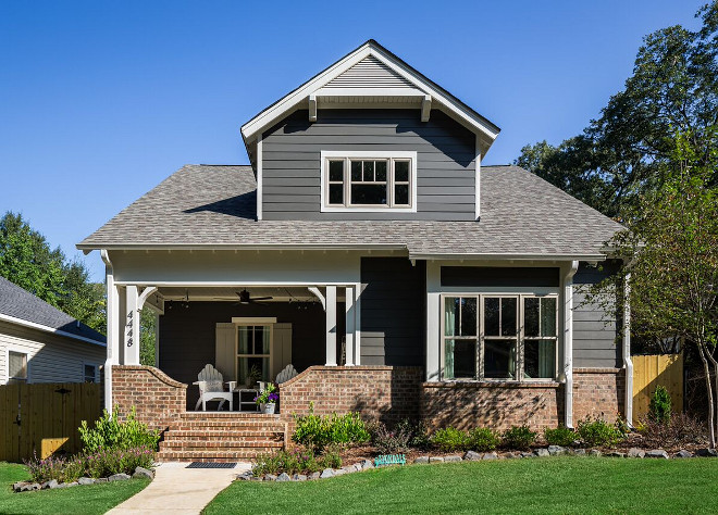 Craftsman New Construction Design. Craftsman New Construction Design painted in Sherwin Williams Urbane Bronze #CraftsmanNewConstructionDesign #SherwinWilliamsUrbaneBronze Willow Homes