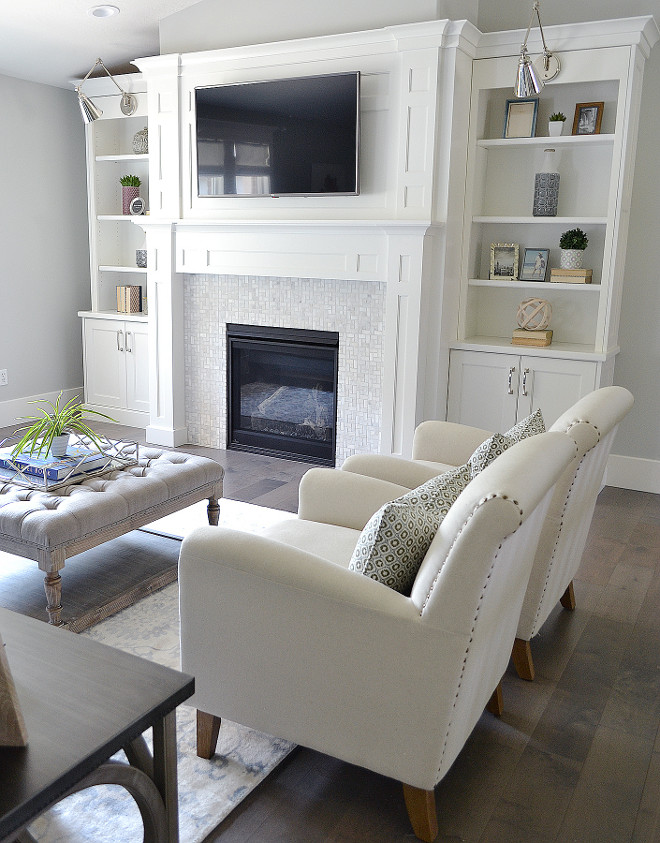 Custom built in with fireplace. Living room Custom built in with fireplace. Custom built in with fireplace ideas. Custom built in with fireplace bookcase #Custombuiltin #fireplace #livingroom #bookcase Sita Montgomery Interiors