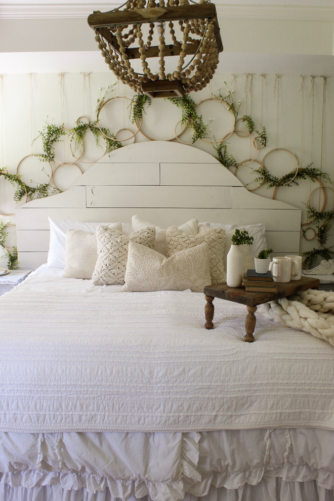 DIY Bedroom Ideas. DIY Bedroom Ideas. Headboard: DIY project using 8 inch- wide pine boards and SW Alabaster. DIY embroidery hoop wall. DIY Bedroom Ideas. DIY Bedroom Ideas. DIY Bedroom Ideas. DIY Bedroom Ideas. DIY Bedroom Ideas. v. DIY Bedroom Ideas #DIYBedroom #DIYBedroomIdeas Home Bunch Beautiful Homes of Instagram @cottonstem