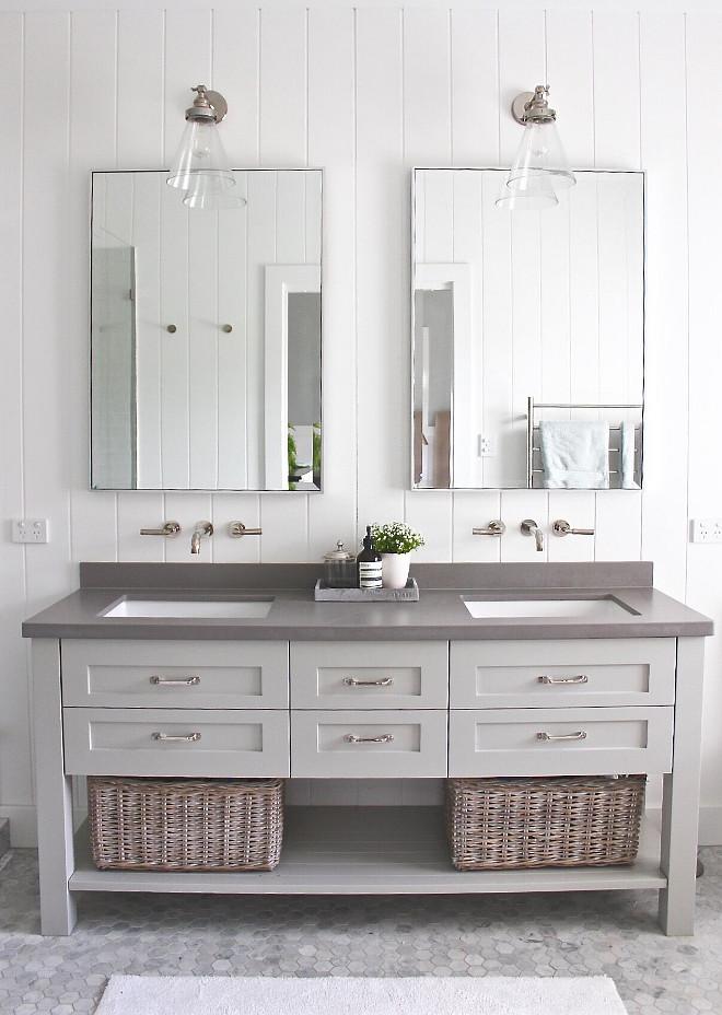 Dulux Narrow Neck. Light grey cabinet paint color Dulux Narrow Neck. Dulux Narrow Neck. Dulux Narrow Neck #DuluxNarrowNeck #lightgreypaintcolor #greycabinet #paintcolor Beautiful Homes of Instagram @urban_farmhouse_build