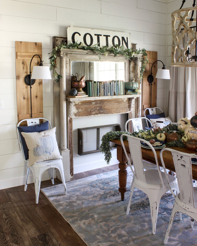 Farmhouse DIY Projects, Shiplap, Reclaimed fireplace surround #farmhouse #DIYfarmhouse #diyshiplap #diyprojects #diyideas #reclaimed Home Bunch Beautiful Homes of Instagram @cottonstem